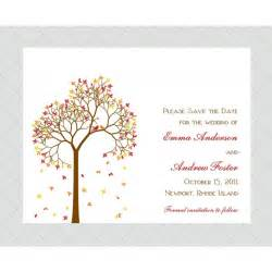 tree save the date cards style 487 whimsicalprints