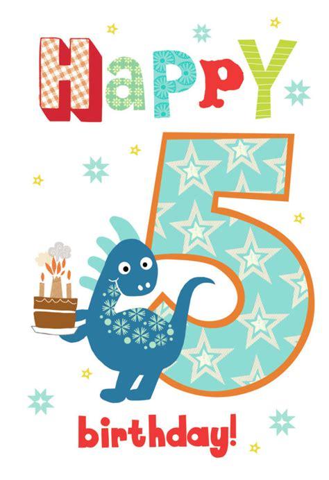 printable number birthday cards louise anglicas las 01980 las boy dinosaur age 5 psd