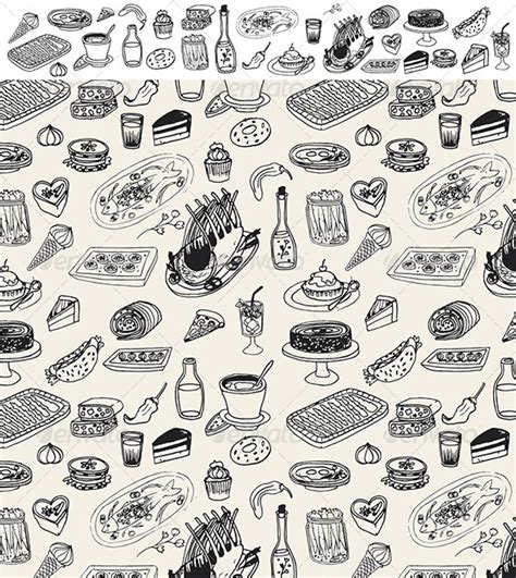 doodle patterns for photoshop pattern food photoshop 187 tinkytyler org stock photos