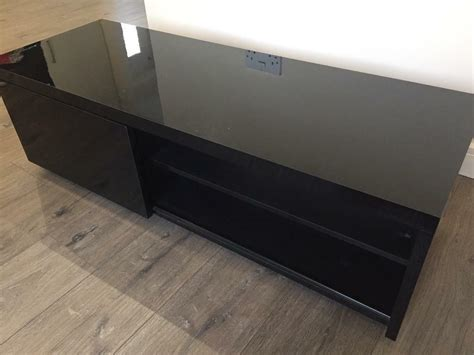black gloss tv unit  rogerstone newport gumtree