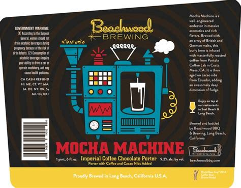 Beachwood Brewing's Mocha Machine Bottle Release 7/29 ? thefullpint.com