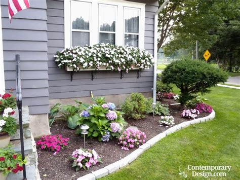 Ideas For Gardens In Front Of House Easy Landscaping Ideas For Front Of House