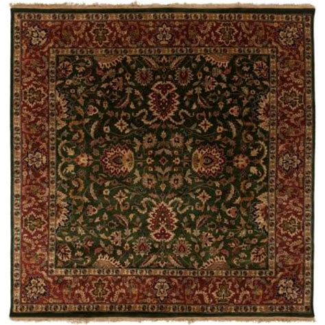 Forest Green Area Rugs Artistic Weavers Ardashir Forest Green 8 Ft Square Area Rug Ardashir 8sq The Home Depot
