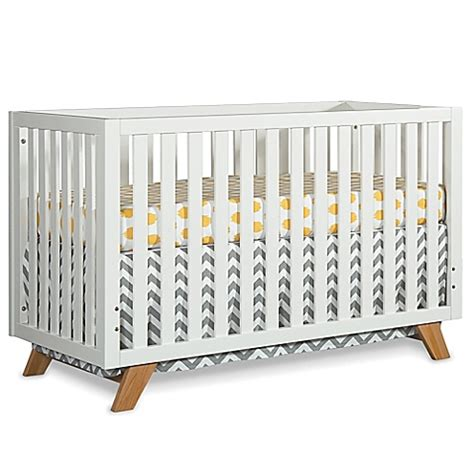 White Wooden Cribs by Child Craft Soho 4 In 1 Convertible Crib In White