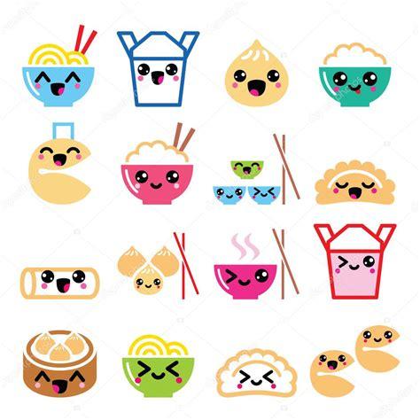 imagenes de galletas kawaii kawaii china llevar alimentos caracteres pasta arroz