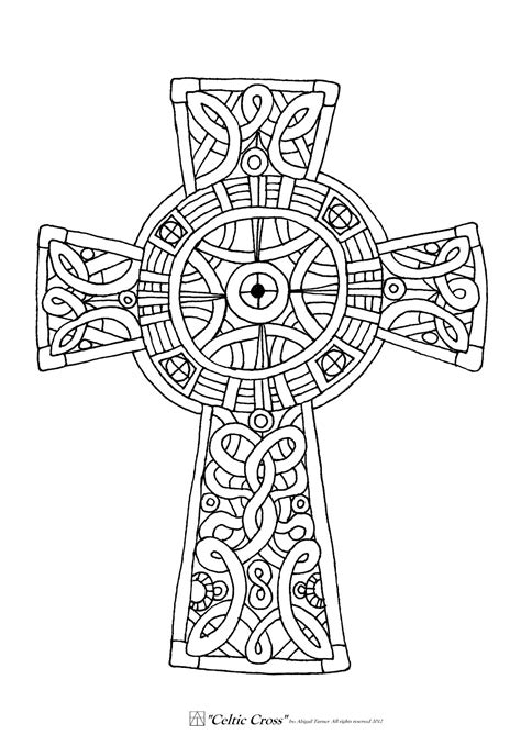 Cross Mandala Coloring Pages | free printable celtic cross coloring pages coloring