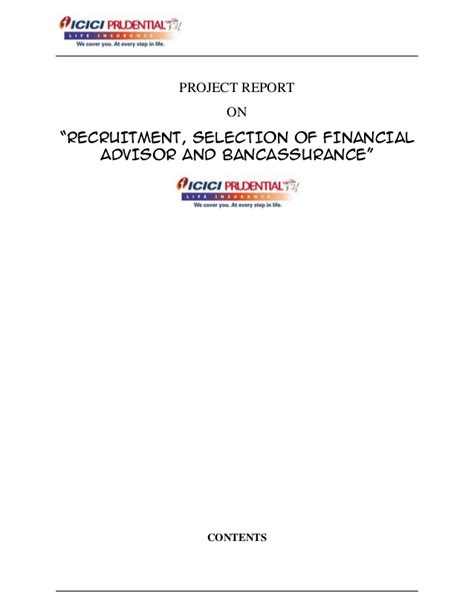 Mba Hr Project Synopsis On Recruitment And Selection by Hr Project On Recruitment Selection Of Financial Advisor