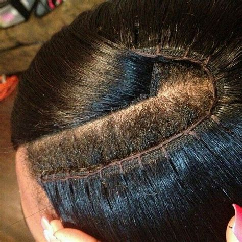 best wayto have a weave sown in for short hair the 25 best invisible part weave ideas on pinterest sew