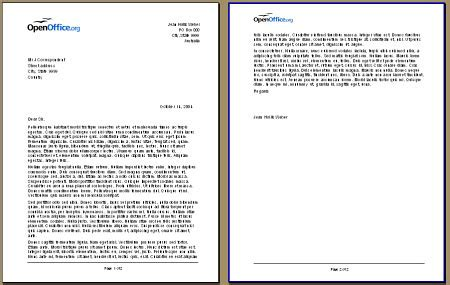Two Page Business Letter Template Business Letter Format Pages Footer Sle Business Letter