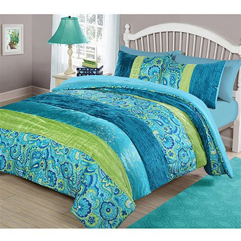 cool bedding sets your zone cool boho comforter set walmart com