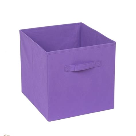 pink canvas storage drawers handy strorage 330 x 330 x 370mm clever cube purple fabric