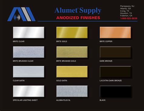 anodized aluminum colors anodized aluminum colors chart coloringsite co