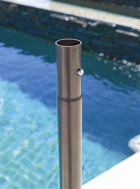 patio umbrella pole replacement galtech 936 9ft aluminum auto tilt umbrella with lights