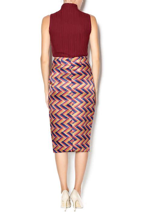 pinkyotto weave pattern pencil skirt from nolita shoptiques