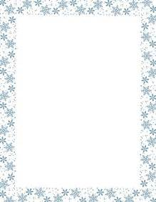 Blue snowflake border paper free downloads at http pageborders org