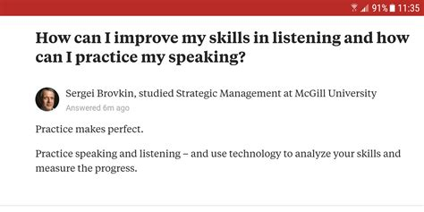 practice your listening and speaking skills