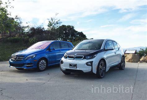 test drive bmw i3 vs mercedes b class electric
