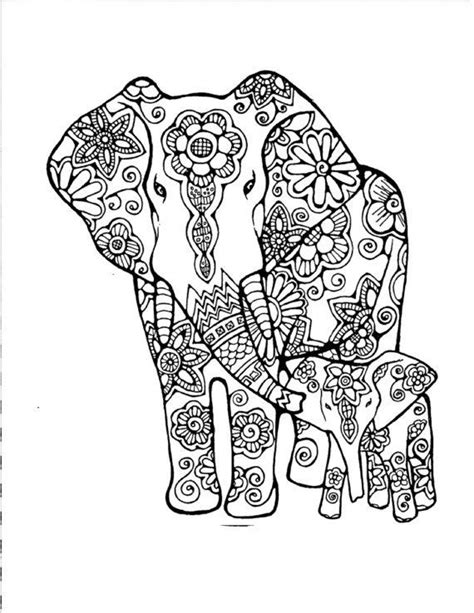 mosaic elephant coloring page 10 best coloring pages images on pinterest coloring for