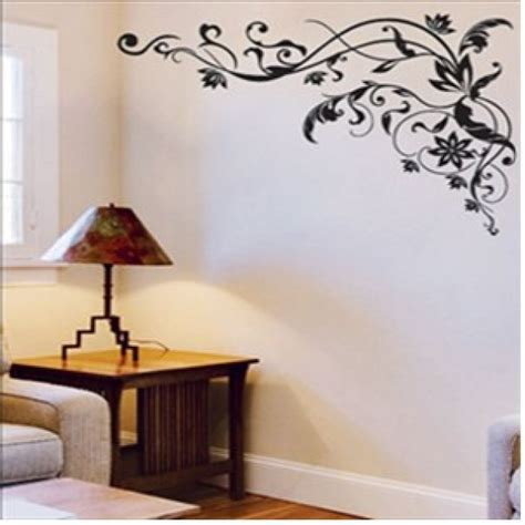 removeable wall stickers classic black flowers removable wall decor wall stickers vinyl stickers hl5857
