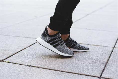 black and white pattern adidas adidas nmd r2 rocks a black and white glitch pattern