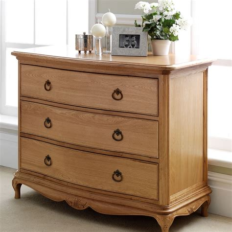 bedroom drawers charlotte french inspired oak 3 drawer chest