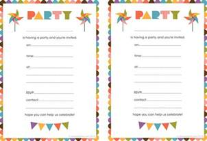 printable birthday invitation themesflip