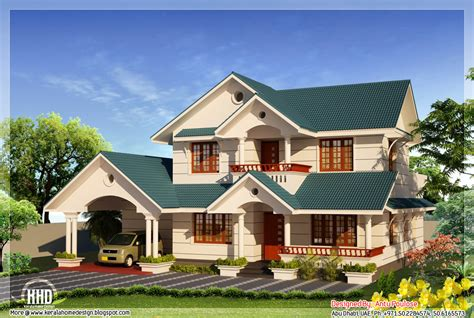 house roofing designs 4 bhk sloping roof home design 2210 sq ft kerala home
