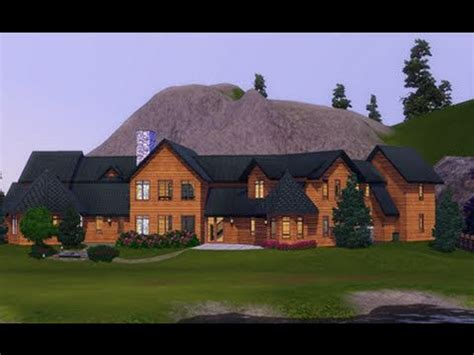 sims  building  christmas cabin youtube