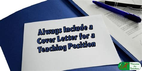 include cover letter teaching position