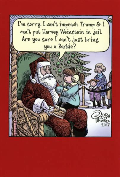 impeach trump box   humorous funny  piraro christmas cards  nobleworks