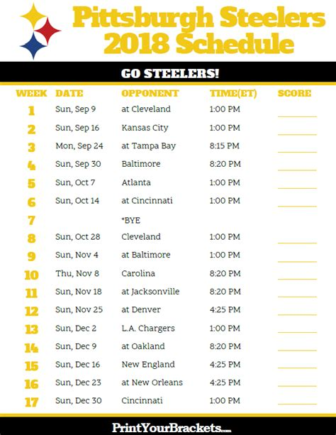 printable nfl schedule regular season 2017 pittsburgh steelers vs ravens score foto bugil bokep 2017