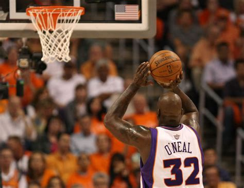 shaquille oneal free throw shaquille o neal photos photos san antonio spurs v