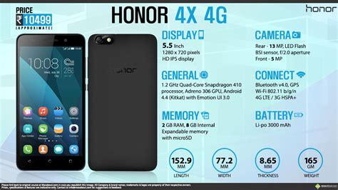 Hp Huawei Honor X4 facts huawei honor 4x 4g