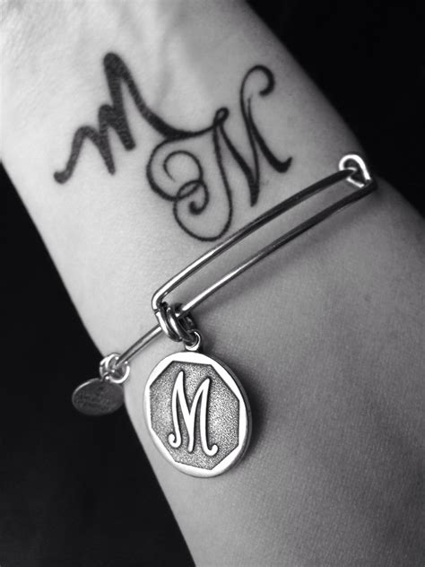 m m tattoo charmed arm mm alex and ani m charm wrist