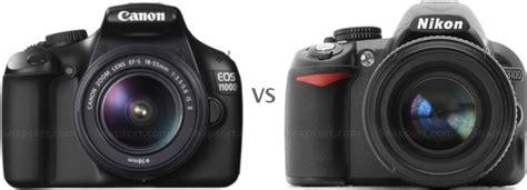 Pasaran Kamera Canon 1100d perbedaan nikon d3100 dan canon 1100d