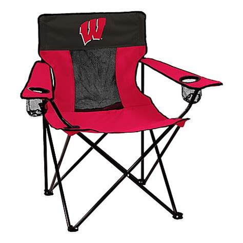 shower chair bed bath and beyond buy university of wisconsin elite folding chair from bed