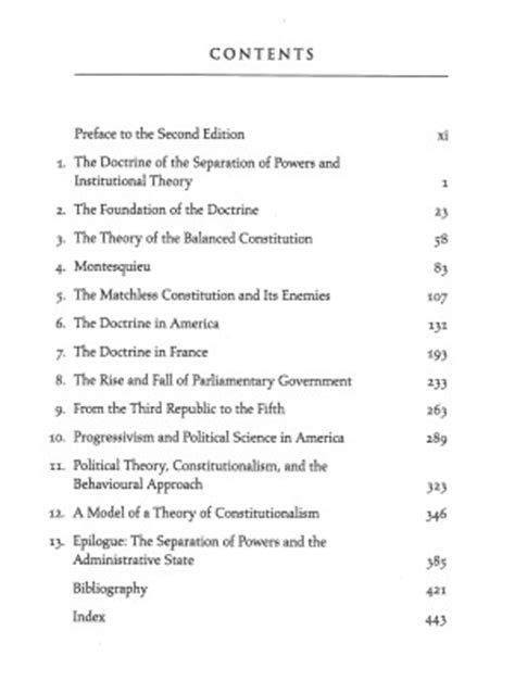 Constitutionalism And The Separation Of Powers 2nd Ed