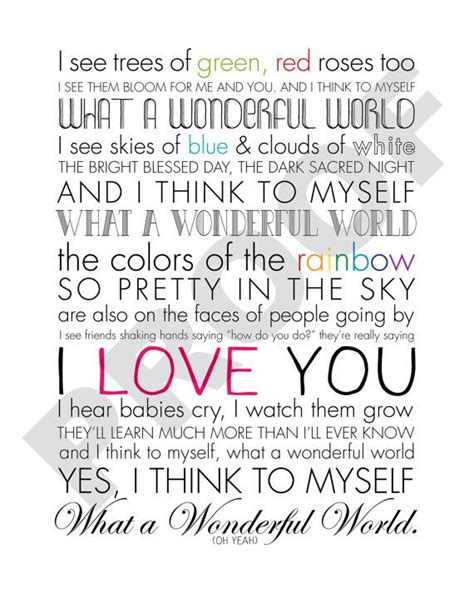 printable lyrics to dancing in the sky 27 best images about oh what a wonderful world on