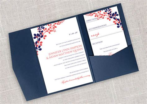 diy pocket wedding invitation template set instant