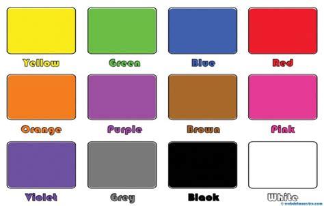 imagenes de colores en ingles y español colores en ingl 233 s web del maestro