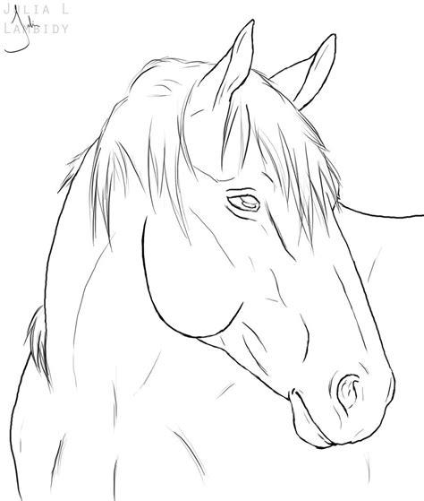 horse lineart by lambidy on deviantart