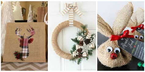 christmas home decor crafts 14 burlap christmas decorations rustic christmas decor