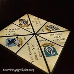 Origami Harry Potter - harry potter origami sorting hat fortune teller