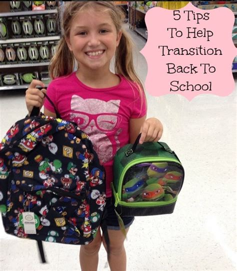 5 tips to make the back to school transition easier