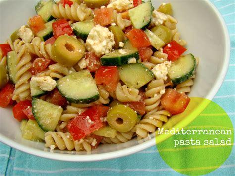 pasta salat family feedbag mediterranean pasta salad