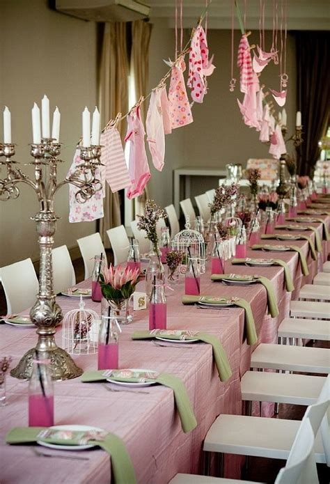 Table Set Decoration 15 Bridal Shower Birthday Baby Shower baby shower ideas theme and decoration tips