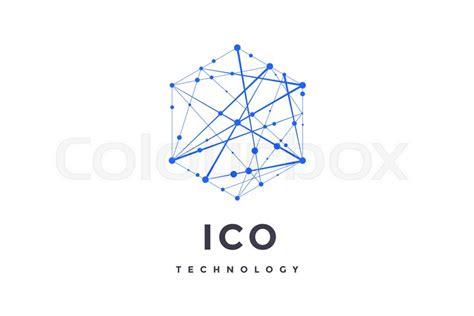 logo  blockchain technology stock vector colourbox