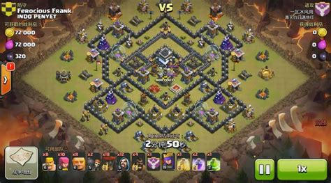 clash of clan th 9 war base base clan war terbaik th 9 clashof clans