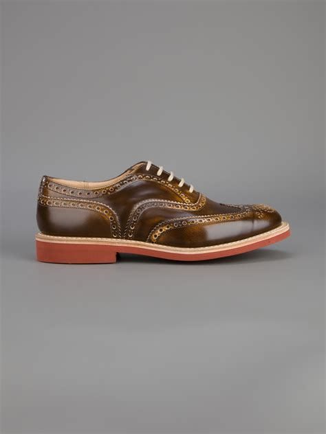 brogue shoes for lyst church s downish brogue shoe in brown for