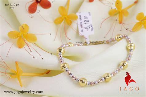 Manik Manik Gelang Warna Silver gelang emas syifa jago jewelry